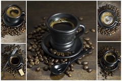 Collage of coffee. Royalty Free Stock Photos