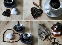 Collage with coffee Stock Image