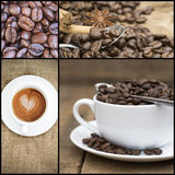 Collage of coffee images. Collage of various coffee images Royalty Free Stock Photo