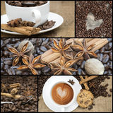 Collage of coffee images Royalty Free Stock Photo