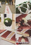 Collage collection of wedding details from Royalty Free Stock Image