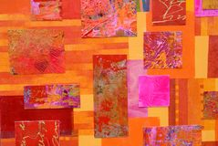 Collage coloré d'art Photographie stock