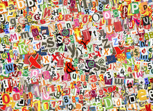 Collage coloré de lettres Image stock