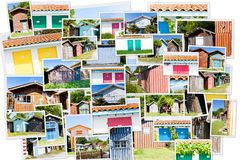 Collage of colored fishermen's Royalty Free Stock Photography
