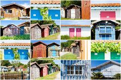 Collage of colored house Stock Photo