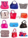 Collage of colorful bags. Royalty Free Stock Photo