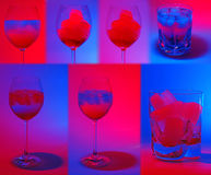 Collage of colorful drinks Royalty Free Stock Image