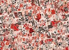 Collage colorido de las cartas Fotografía de archivo libre de regalías