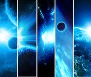 Collage con i pianeti illustrazione di stock