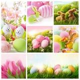 Collage con la decorazione di pasqua immagini stock