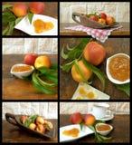 Collage con la fruta y el atasco foto de archivo libre de regalías