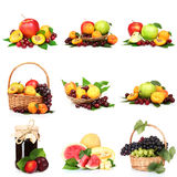Collage con las frutas sabrosas del verano fotografía de archivo libre de regalías