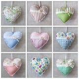 Collage con los corazones Imágenes de archivo libres de regalías