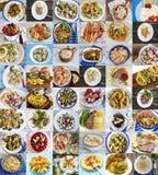 Collage con parecchie immagini immagine stock