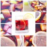 Collage con sangria fotografie stock