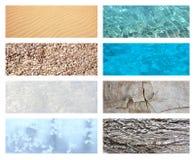 Collage con struttura della natura Immagini Stock