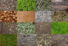 Collage con texturas del área de montaña Foto de archivo libre de regalías