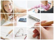 Collage conceptual de la educación fotos de archivo libres de regalías