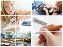 Collage conceptual de la educación Foto de archivo libre de regalías
