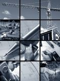 Collage of Construction ambian Royalty Free Stock Photo