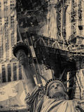 Collage containing several New York landmarks Stock Images