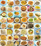 Collage. Of cooked dishes typical of Spain Stock Images