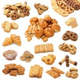 Collage from cookies. Isolated on white background Royalty Free Stock Photos