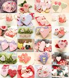 Collage of cookies decorated Royalty Free Stock Images