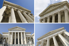 Collage of courthouses Stock Photography