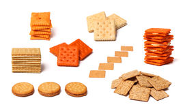 Collage of Crackers Stock Images