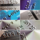 Collage of credit card. Royalty Free Stock Images