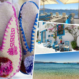 Collage of Crete (Greece) images - travel background (my photos) Royalty Free Stock Photography
