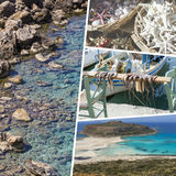 Collage of Crete (Greece) images - travel background (my photos) Stock Image