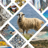 Collage of Crete (Greece) images - travel background (my photos).  Stock Photo
