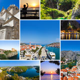 Collage of Croatia travel images Royalty Free Stock Photography
