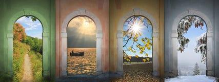 Collage cuatro estaciones I imagen de archivo libre de regalías