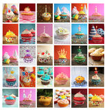 Collage of cupcakes Stock Image