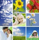 Collage d'été Images libres de droits