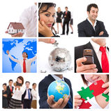 Collage d'affaires Photographie stock libre de droits