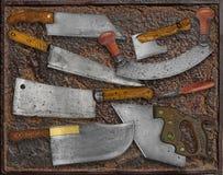Collage d'annata degli utensili della cucina Fotografie Stock