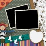 Collage d'annata delle foto Fotografia Stock