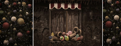 Collage d'annata di Natale Fotografia Stock