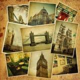 Collage d'annata. Viaggio di Londra. Fotografie Stock Libere da Diritti