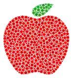 Collage d'Apple des cercles remplis Illustration Libre de Droits