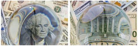 Collage d'argent de trésor du Président Washington Photos libres de droits