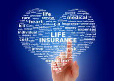 Collage d'assurance-vie Images libres de droits