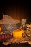 Collage d'automne avec les éléments normaux Images libres de droits