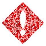 Collage d'erreur des triangles illustration stock