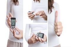 Collage d'essai de glucose images stock