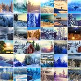 Collage d'hiver Image libre de droits